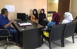 Palestine Polytechnic University (PPU) - طلبة تخصص العلوم الاسرية ينطمون زيارة لدائرة الدعم النفسي في شرطة الخليل